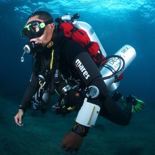 A Scuba Diver Enjoying Being Underwater